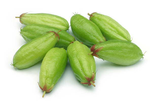 Bilimbi fruits of South East Asia over white background